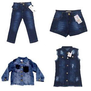 Jeans Feminino 1 a 8 anos ( Escolha a quantidade)