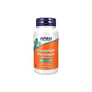 Picolinato de Cromo 200 MCG 100 Cápsulas - NOW