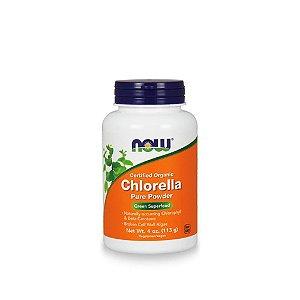 Chlorella Pura em Pó 113g - Now Foods