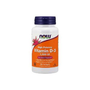 Vitamina D-3 1.000 Ui 180 Softgels - Now Foods