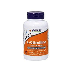 L-Citrulina Pura em pó 113 G - NOW