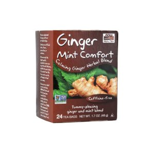 Chá Digestivo Ginger Mint Comfort 24 sachês - Now Real Tea