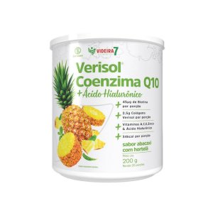 Colágeno Verisol + CoQ10 + Ác. Hialuronico Abacaxi c /Hortelã 200g - Videira 7
