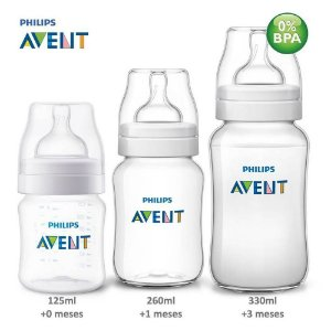 Kit Mamadeiras Anti-Cólica Clássica 125ml, 260ml e 330ml - SCD372/03 - Philips Avent