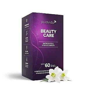 Beauty Care 60 Caps Puravida - Saúde da pele, unhas e cabelos