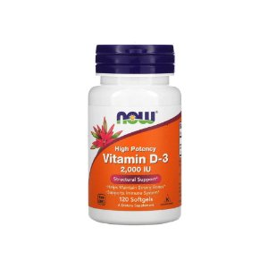 Vitamina D-3 2.000 Ui 120 Softgels - Now Foods