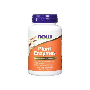 Plant Enzymes 120 Cápsulas - NOW