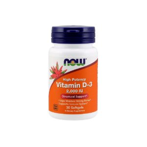 Vitamina D-3 2.000 Ui 30 Softgels - Now Foods