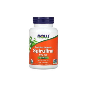 Spirulina 500mg 200 Tabletes - NOW
