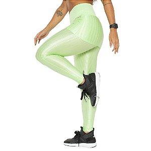 Legging de Sainha Light Green / Calça Cirrê Verde Claro / Cós Alto