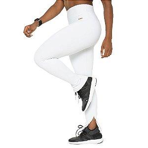 Legging Incredible White / Calça Branca com Zíper / Cós Alto / Não Marca / Sem Transparência