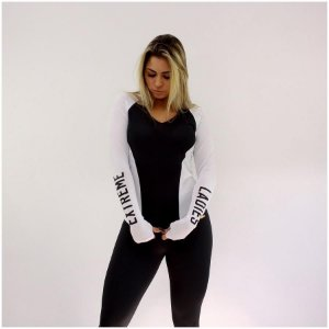 Blusa Running Black & White