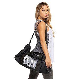 Bag Army / Mochila preta com bolso camuflado