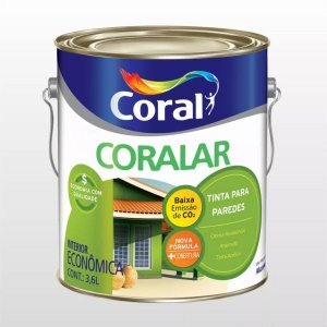 LATEX CORAL CORALAR ACRILICA 3,6L BRANCO