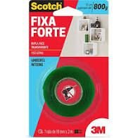 FITA DUPLA FACE 3M 19MMX2M FIXA FORTE 800G