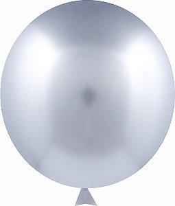 Balão Metalizado Prata Nº9 C/25 Unidades - Maricota Festas