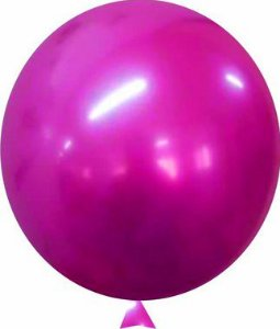 Balão Metalizado Pink Nº9 C/25 Unidades - Maricota Festas