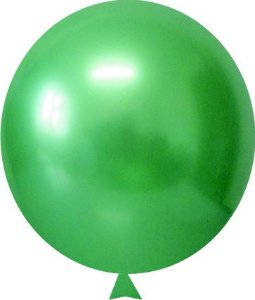 Balão Metalizado Verde Nº9 C/25 Unidades - Maricota Festas