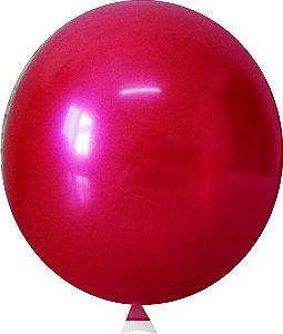 Balão Metalizado Vermelho Nº9  C/25 Unidades - Maricota Festas
