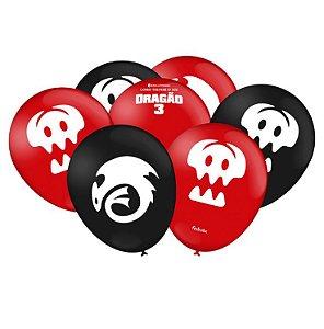 Balão Imperial Temático Como Treinar Seu Dragão C/25 Unidades. Maricota Festas