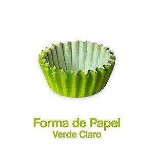 Forminha Nº05 Plac Verde Claro C/100 Unidades - Maricota Festas