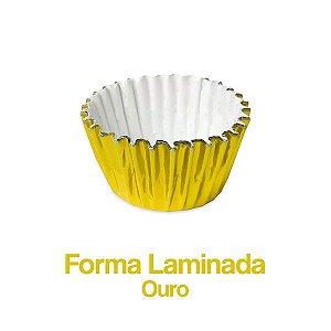 Forminha Laminada Nº06 Ouro C/100 Unidades - Maricota Festas