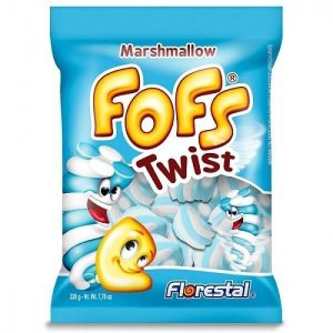 Marshmallow Torcido Azul/Branco 220G - Maricota Festas