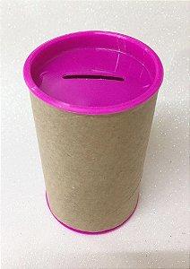 Cofrinho de Papel Tampa Pink 10x6 - Unidade.
