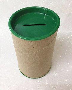 Cofrinho de Papel Tampa Verde Escuro 10x6 - Unidade.