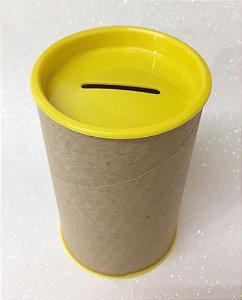 Cofrinho de Papel Tampa Amarelo 10x6 - Unidade.