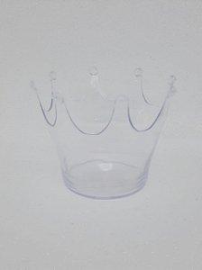 Cachepot Coroa - Transparente - Unidade - Maricota Festas