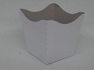 Cachepot Pequeno de Papel Branco C/10 - Unidade. Maricota Festas