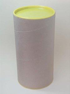 Tubo Lata Kraft 10x32 cm Tampa plástica amarela - ideal para garrafas