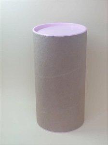 Tubo Lata Kraft 10x32 cm tampa plástica Rosa BB - ideal para garrafas
