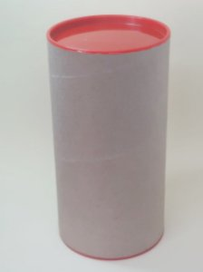 Tubo Lata Kraft tampa plástica Vermelha - Maricota Festas