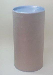 Tubo Lata Kraft 10x32 cm tampa plástica Prata - ideal para garrafas