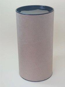 Tubo Lata Kraft tampa plástica Preto - Maricota Festas