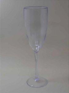 Taça de Champanhe Acrílica Transparente - Maricota Festas