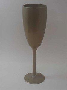 Taça de Champanhe Acrílica Dourado - Maricota Festas