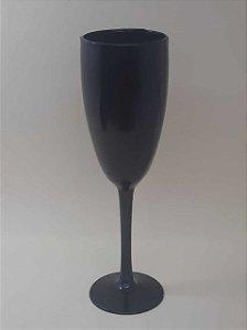 Taça de Champanhe Acrílica Preta - Maricota Festas