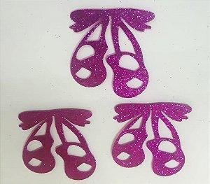 Aplique em EVA Sapatilha Balé Pink - c/ 6 Unid.  - Maricota Festas