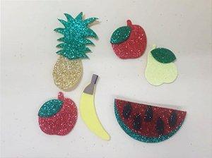 Aplique em EVA Frutas Sortidas c/ 6 Unid.  - Maricota Festas