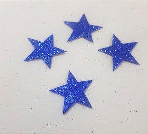 Aplique em EVA Estrela Azul - c/10 Unid.  - Maricota Festas