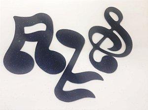 Aplique em EVA Notas Musicais Preto - c/04Unid.  - Maricota Festas