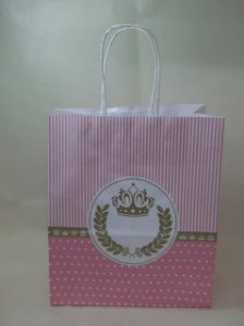 Sacola Kraft Princesa 18x9x22cm c/10 Unid. - Maricota Festas