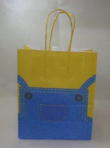 Sacola Kraft Blue Bag 18x9x22cm c/10 Unid. - Maricota Festas