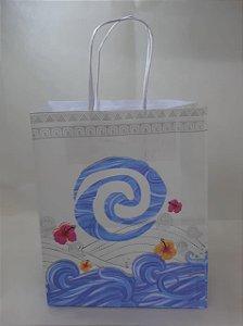 Sacola Kraft Concha do Mar 18x9x22cm c/10 Unid. - Maricota Festas