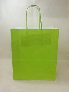 Sacola Kraft Verde Limão 18x9x22cm c/10 Unid. - Maricota Festas