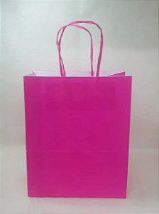 Sacola Kraft Pink 18x9x22cm c/10 Unid. - Maricota Festas