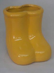 Botinha Cerâmica Amarela- Maricota Festas